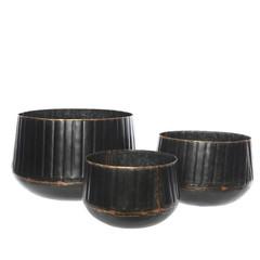 """Pot métal noir moyen - 8"""""""
