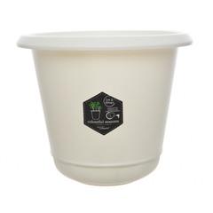 """Kaemingk Cache-pot plastique - Blanc cassé 5,5"""""""