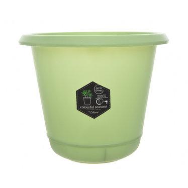 """Cache-pot plastique - Menthe 5,5"""""""
