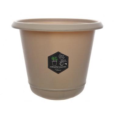 """Cache-pot plastique - Taupe 5,5"""""""