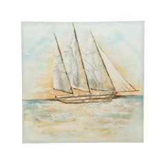 "Peinture toile bateau 39,5"""
