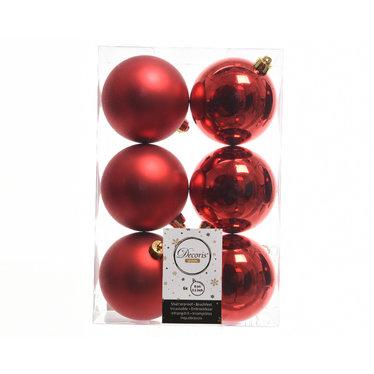 Signé Garneau Boules plastique rouge (paquet de 6)