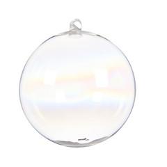 """Signé Garneau Boule verre crochet clair iridescent 5,9"""" (unité)"""