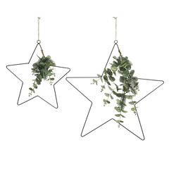 "Signé Garneau Ornement étoile eucalyptus sapinage 15,4"" (petit)"