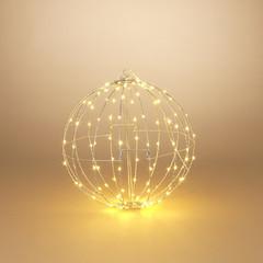 """Signé Garneau Sphère métal lumière électrique 15.7"""" blanc chaud (extérieur)"""