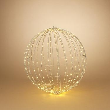 """Signé Garneau Sphère métal lumière électrique 23,6"""" blanc chaud (extérieur)"""