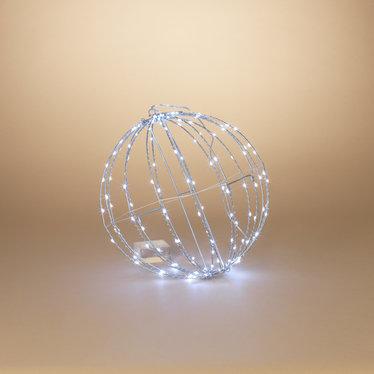 """Signé Garneau Sphère métal lumière électrique 15.7"""" blanc froid (extérieur)"""