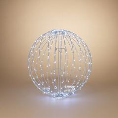"""Signé Garneau Sphère métal lumière électrique 23.6"""" blanc froid (extérieur)"""