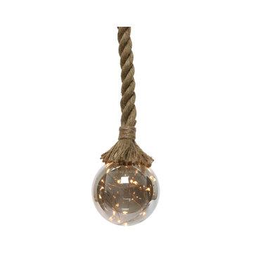 Signé Garneau Boule LED sur corde de jute