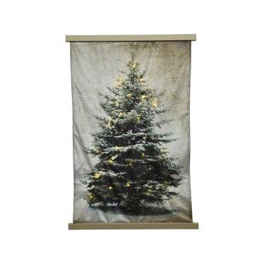 "Signé Garneau Cadre lumineux tapisserie arbre 32"""