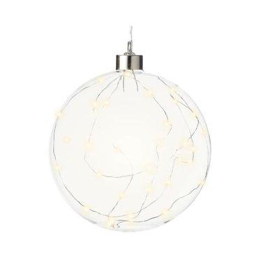 Signé Garneau Boule lumière verre blanc chaud 40L 8'' intérieur