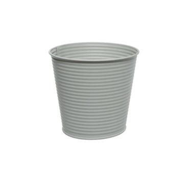 Cache-pot en fer gris pale 5,5''