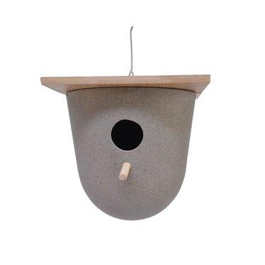 """Nichoir paille recyclée et bambou 8,5"""""""