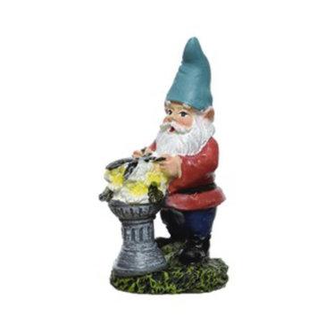 Gnome jardinier bain d'oiseau 3.5''