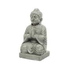"""Bouddha assis gris 20"""""""