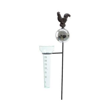 "Pluviomètre métal coq 45"""