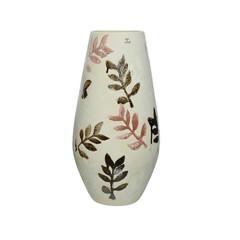 """Vase céramique feuille blanc 17"""""""