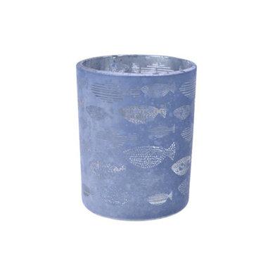 Voltive en verre poisson bleu