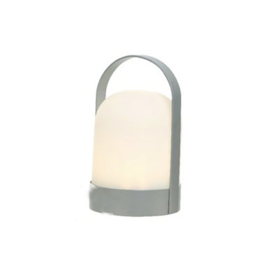 """Lampe à LED avec timer grise pour extérieur 8"""""""