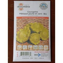 Semences Courgette Patisson jaune et vert bio