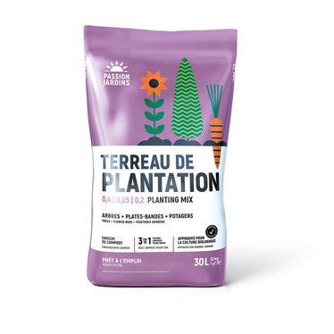 Terreau plantation bio passion jardin 30 litres