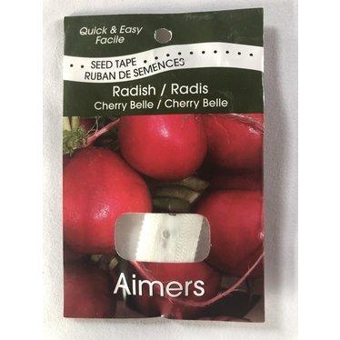 Ruban de semences de Radis Cherry Belle