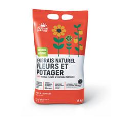 Engrais naturel fleurs et potager  4-5-7 Passion jardins 6kg