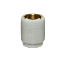 "Kaemingk Voltive en marbre blanc 2.75"""