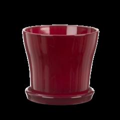 cache pot soucoupe dark red 108/03 19cm
