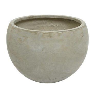 """Cache-pot fibre argile sable rond 15.3"""""""