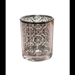 Kaemingk Voltive en verre motif argent 3''