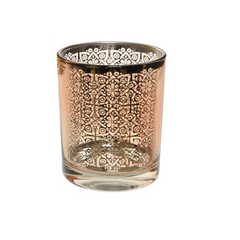 Voltive en verre motif rose 3''