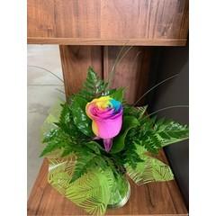 Rose naturelle & vase