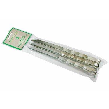 Piquets de métal pour bordure paquet de 3