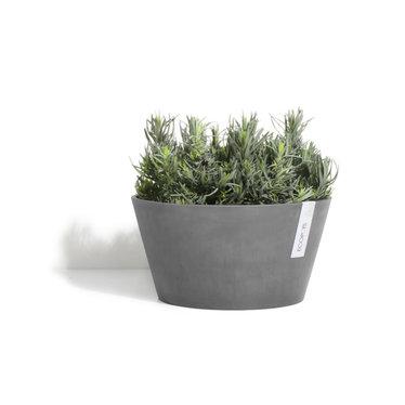 Pot Ecopots Frankfurt gris foncé 12po