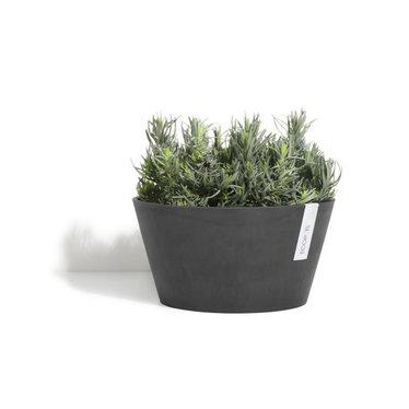 Pot Ecopots Frankfurt gris foncé 16po