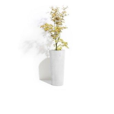 Pot Ecopots Amsterdam haut blanc gris 12x19''
