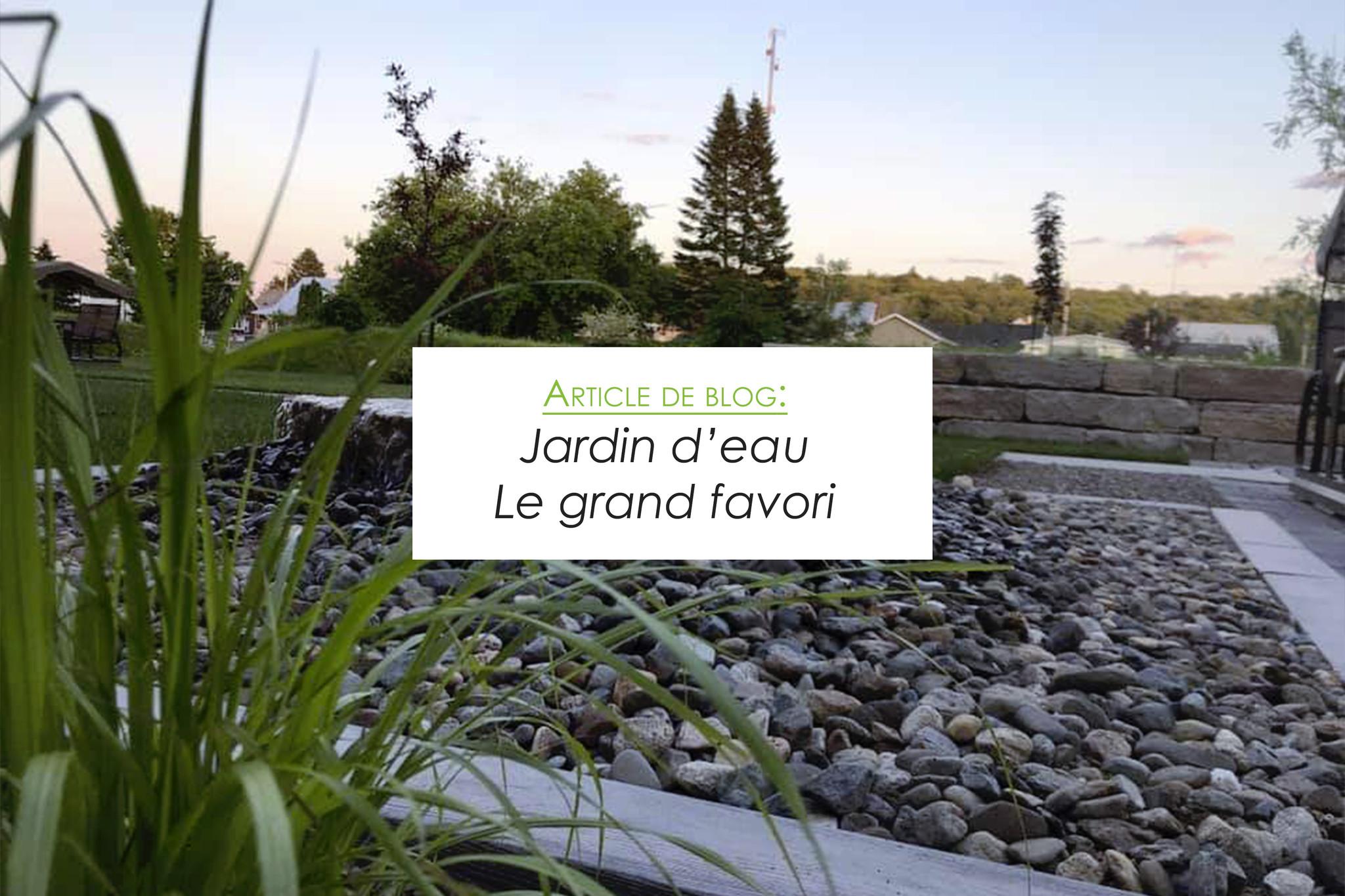 Jardin d'eau - le grand favori