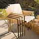 Kingsley Bate Tivoli - Chaise à bras crème