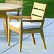 Kingsley Bate Algarve - Chaise à diner avec bras et coussin