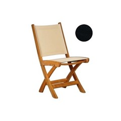 Kingsley Bate St-Tropez - Chaise sans bras pliante noir