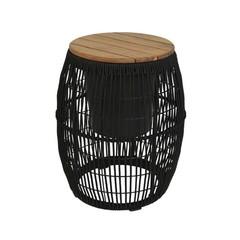Kaemingk Table d'appoint cache-pot Seville noir 9''