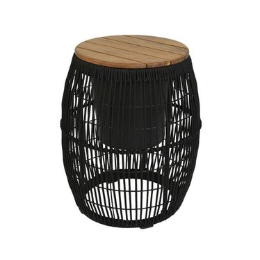 Table d'appoint cache-pot Seville noir 9''