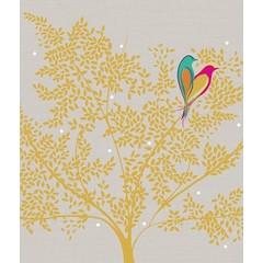 Carte - Oiseaux dans un arbre