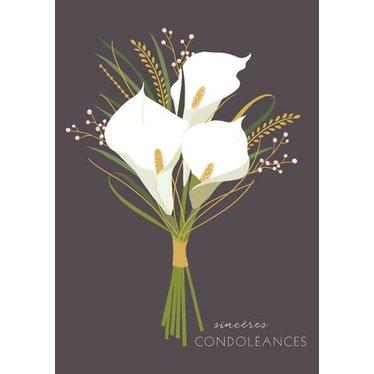 Carte - Sincères condoléances