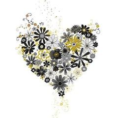 Carte coeurs en fleurs