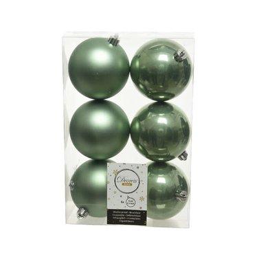 Signé Garneau Boules plastique vert sauge  8 cm (6)