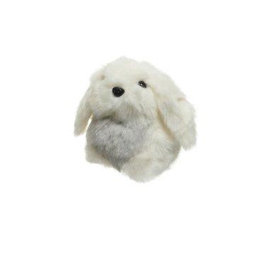 Lapin en peluche blanc