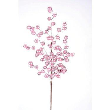 Tige métallique pommettes rose