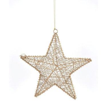Ornement étoile suspendu or